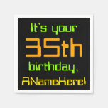[ Thumbnail: Techie 35th Birthday Paper Napkins ]