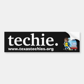 Techie. Bumper Sticker Car Bumper Sticker