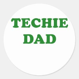 Techie Dad Classic Round Sticker