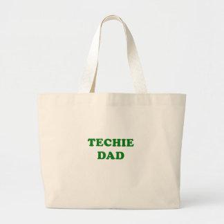 Techie Dad Large Tote Bag