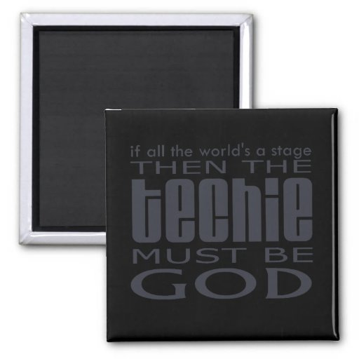 Techie God 2 Inch Square Magnet