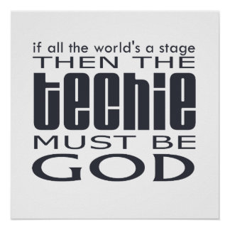 Techie God Poster