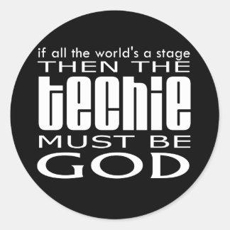 Techie God Stickers