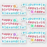 "[ Thumbnail: Techie ""Happy Birthday"" + Star Shape Stickers ]"