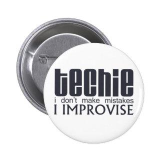 Techie Improvise 2 Inch Round Button