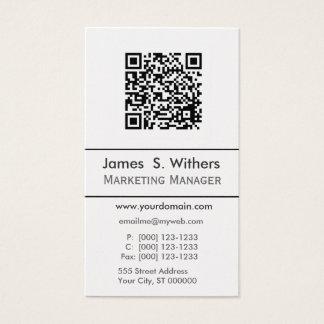 Techie Modern Simple QR Code,  Photo or Logo Business Card