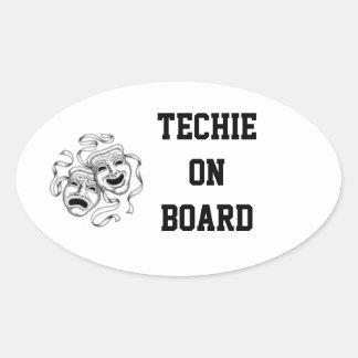 Techie On Board Sticker