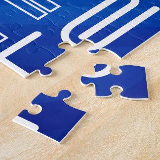 Techie; Rayas azules reales Puzzle Con Fotos