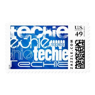 Techie; Rayas azules reales Sello