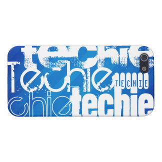 Techie; Royal Blue Stripes iPhone 5 Covers