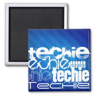 Techie; Royal Blue Stripes Magnet