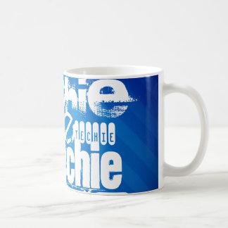 Techie; Royal Blue Stripes Mugs