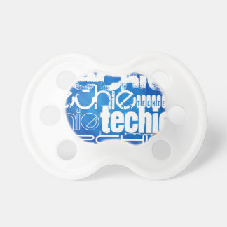 Techie; Royal Blue Stripes BooginHead Pacifier