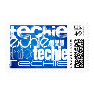 Techie; Royal Blue Stripes Stamp