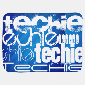 Techie; Royal Blue Stripes Swaddle Blanket