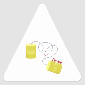 Techie Triangle Stickers