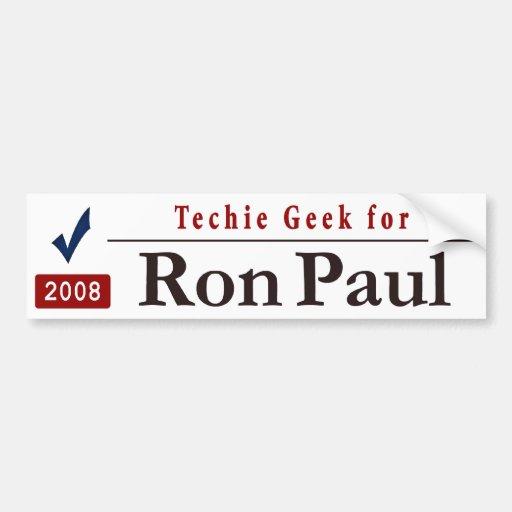 TechieGeek4Paul Etiqueta De Parachoque