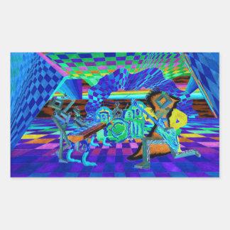 Techies Band Geometrix Series by CricketDiane Rectangle Sticker