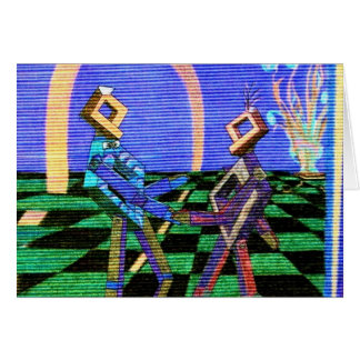 Techies Dancing CricketDiane Geometrix Products Greeting Card