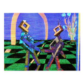 Techies Dancing CricketDiane Geometrix Products Postcard