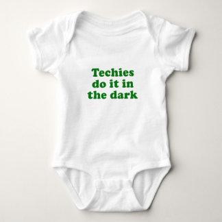 Techies Do It In the Dar Baby Bodysuit