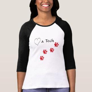 Techincian-Amor veterinario impresiones Playeras