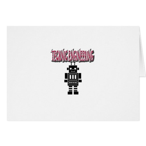 Technic Engineering Greeting Card