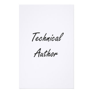 Technical Author Artistic Job Design Stationery