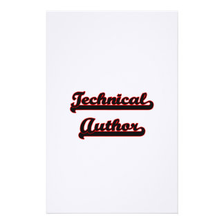 Technical Author Classic Job Design Stationery