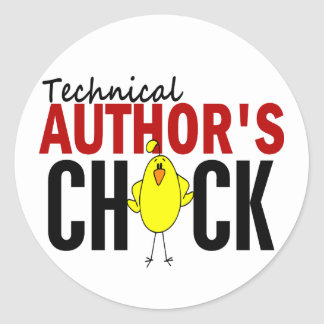 Technical Author's Chick Classic Round Sticker