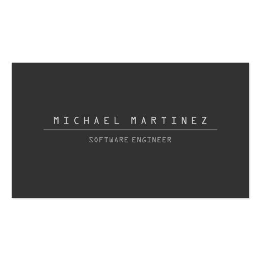 TECHNICAL COMPUTER FONT Business Card