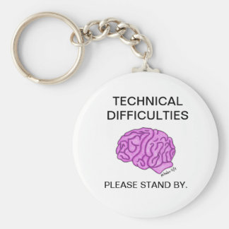 """Technical Difficulties"" keychain"