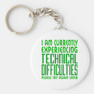 Technical Difficulties Keychain