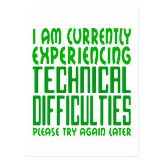 Technical Difficulties Postcard
