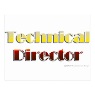 Technical Director (Text Only) Postcard