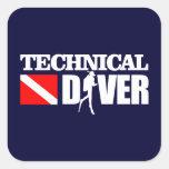 Technical Diver 2 Square Stickers