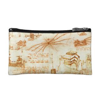 Technical drawing sketches by Leonardo Da Vinci Cosmetics Bags