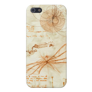 Technical drawing & sketches by Leonardo Da Vinci Cover For iPhone SE/5/5s
