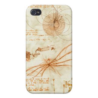Technical drawing & sketches by Leonardo Da Vinci iPhone 4/4S Cases