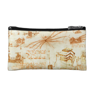 Technical drawing & sketches by Leonardo Da Vinci Makeup Bag