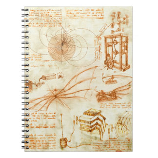 Technical drawing & sketches by Leonardo Da Vinci Notebook