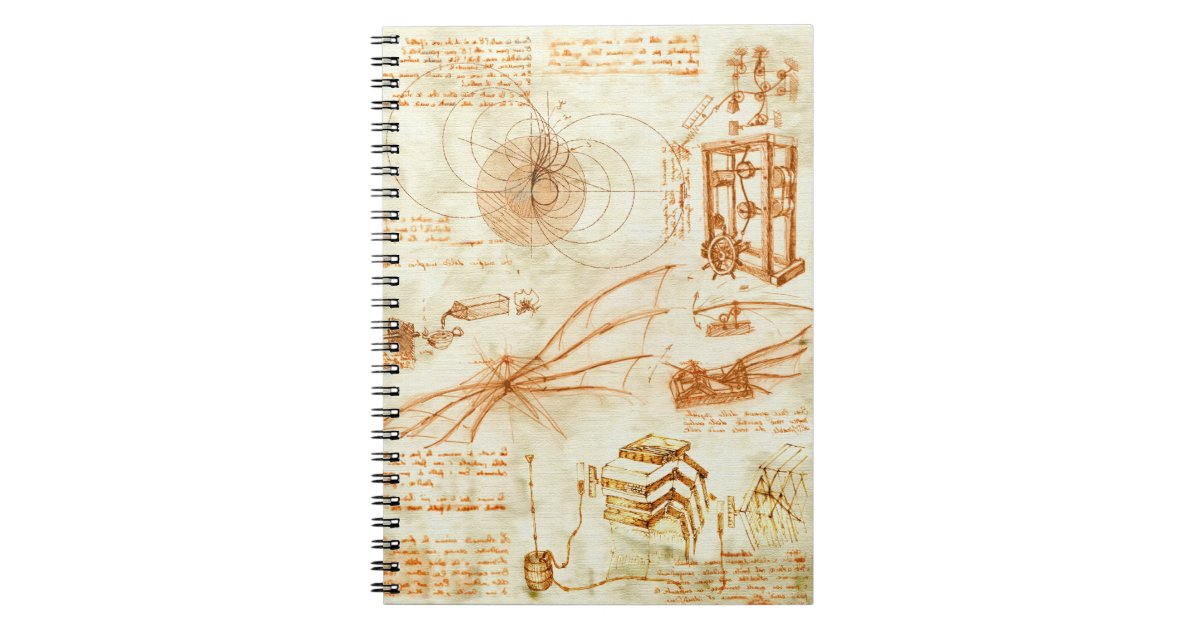 Technical Drawing Amp Sketches By Leonardo Da Vinci Notebook