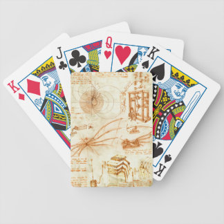 Technical drawing sketches by Leonardo Da Vinci Playing Cards