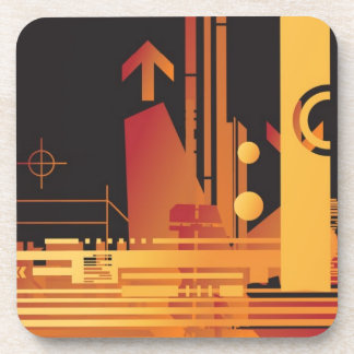 Technical halftone background 2 coaster