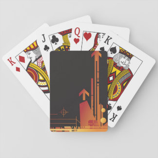 Technical halftone background 2 playing cards