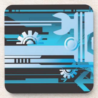 Technical halftone background 3 coaster