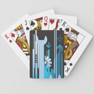 Technical halftone background 3 playing cards