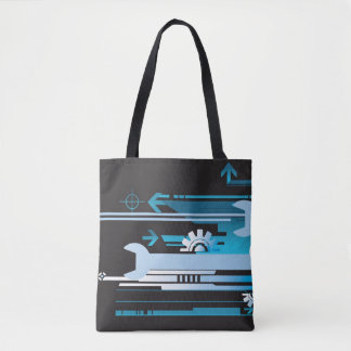 Technical halftone background 3 tote bag
