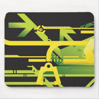 Technical halftone background 4 mouse pad