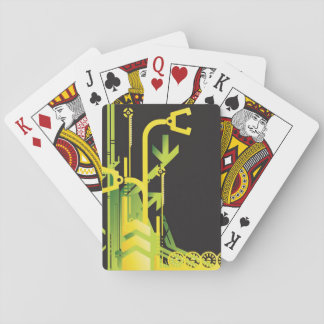 Technical halftone background 4 playing cards